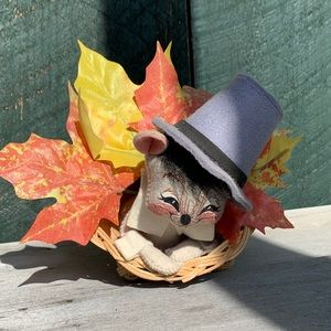 Annalee | Vintage Thanksgiving Pilgrim Mouse